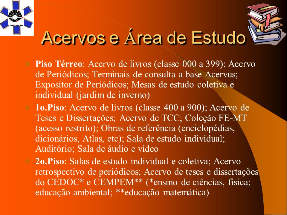 Acervos e Área de Estudo