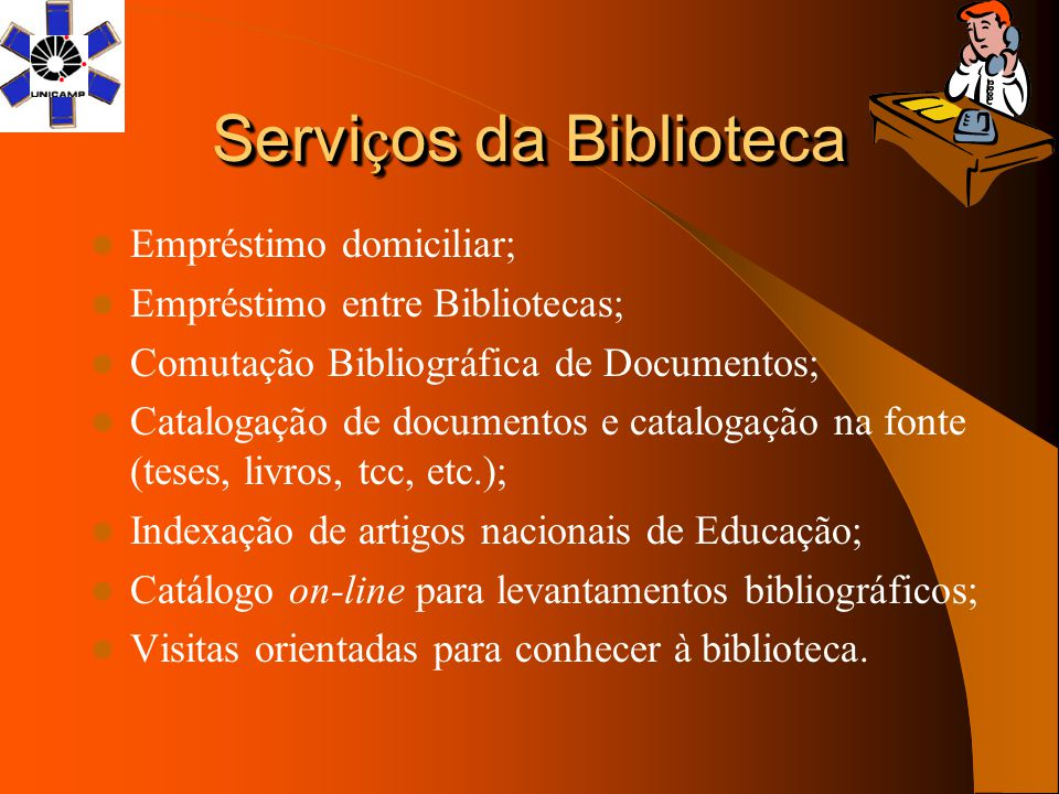 Serviços da Biblioteca