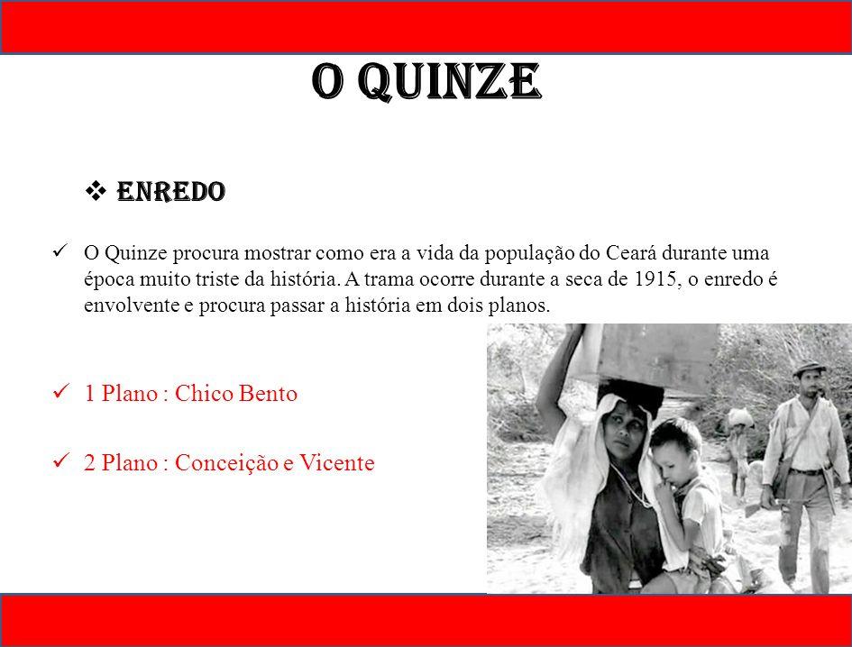 O Quinze Enredo 1 Plano : Chico Bento 2 Plano : Conceição e Vicente