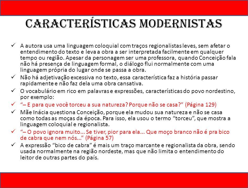 Características modernistas