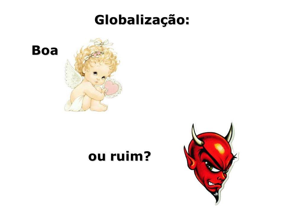 Globalização: Boa ou ruim