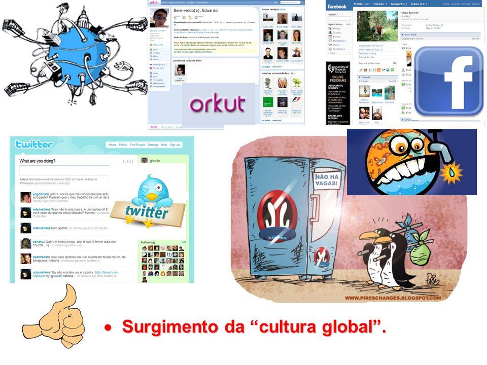 Surgimento da cultura global .