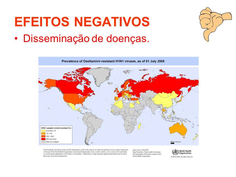 EFEITOS NEGATIVOS Disseminação de doenças.