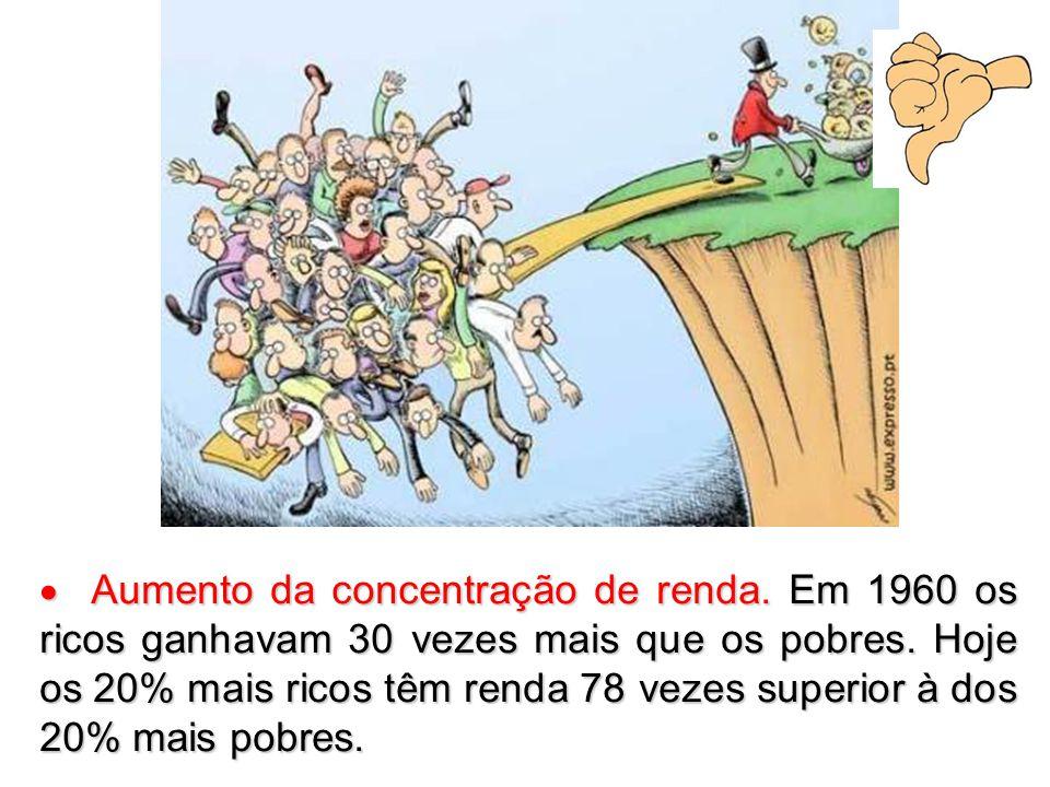  Aumento da concentração de renda