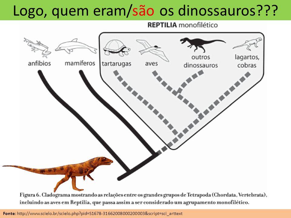 Logo, quem eram/são os dinossauros