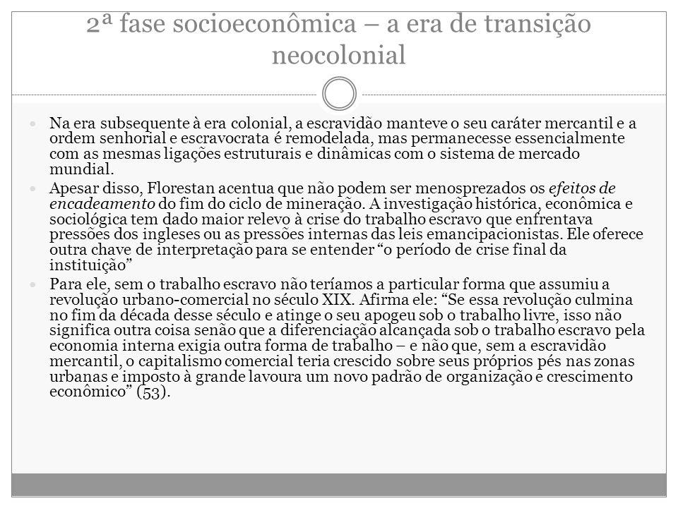 2ª fase socioeconômica – a era de transição neocolonial
