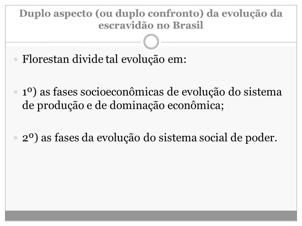 Duplo aspecto (ou duplo confronto) da evolução da escravidão no Brasil