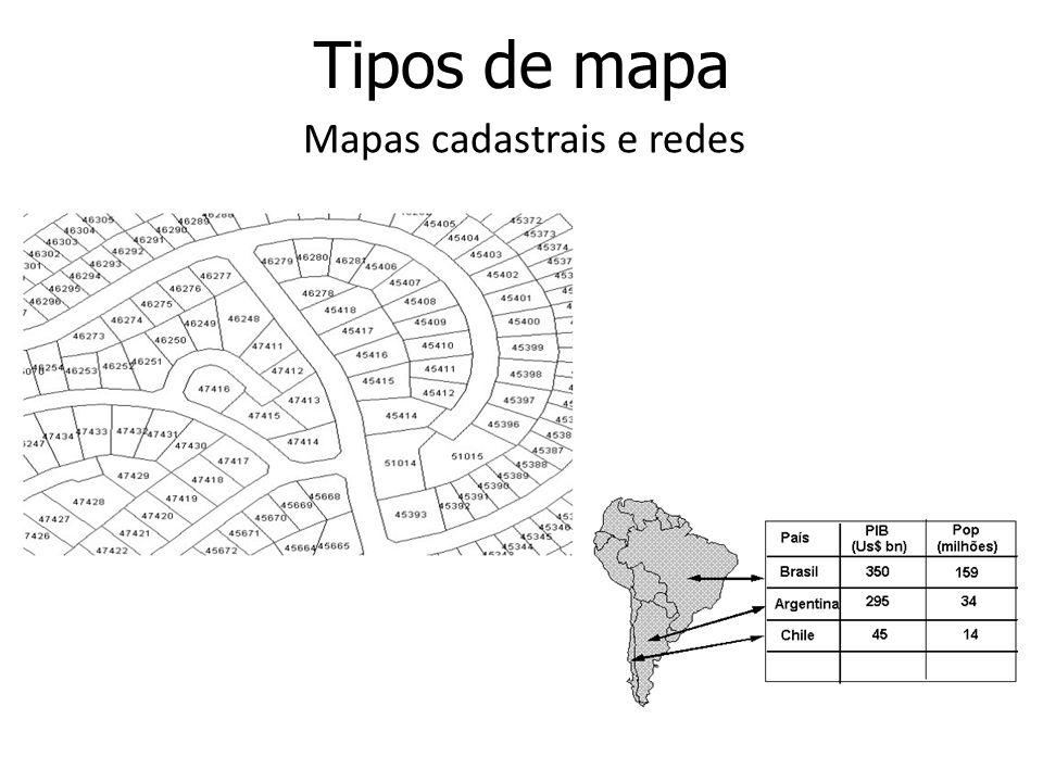 Mapas cadastrais e redes
