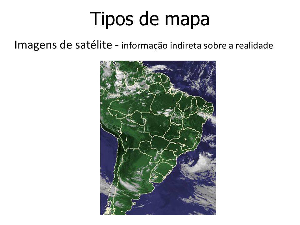 Imagens de satélite - informação indireta sobre a realidade
