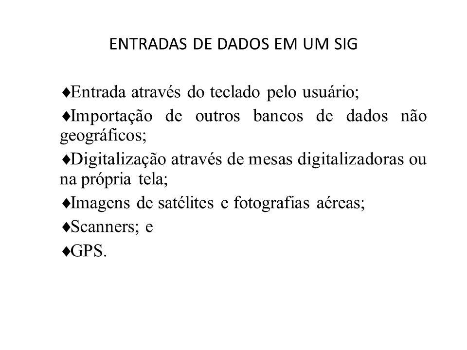 ENTRADAS DE DADOS EM UM SIG