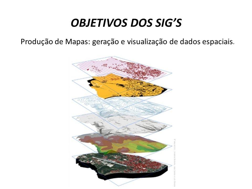 Produção de Mapas: geração e visualização de dados espaciais.