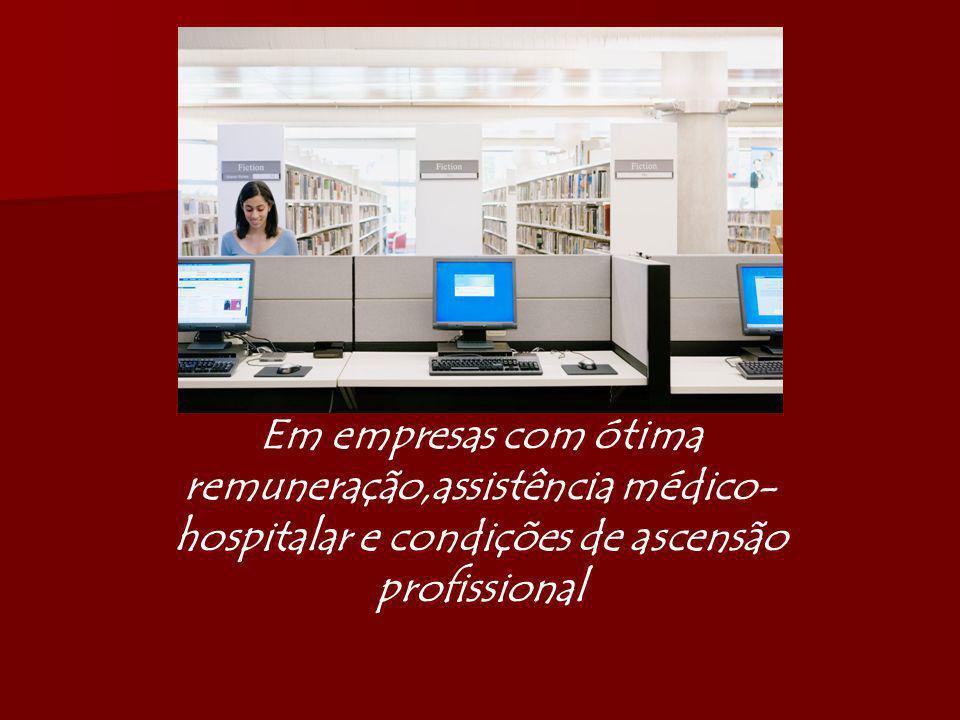 Em empresas com ótima remuneração,assistência médico-hospitalar e condições de ascensão profissional