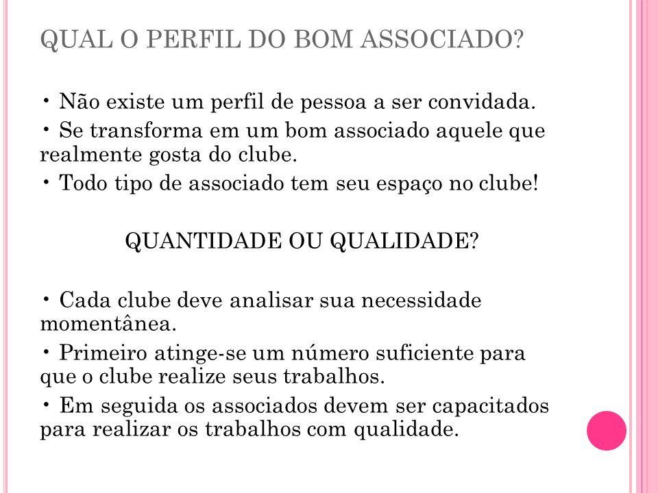 QUAL O PERFIL DO BOM ASSOCIADO