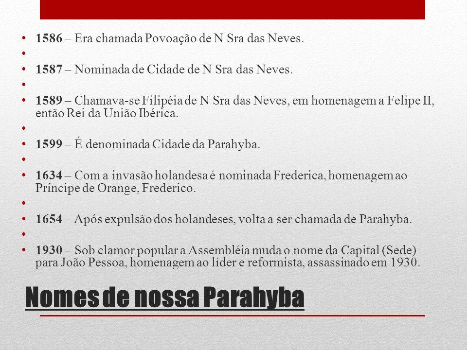 Nomes de nossa Parahyba