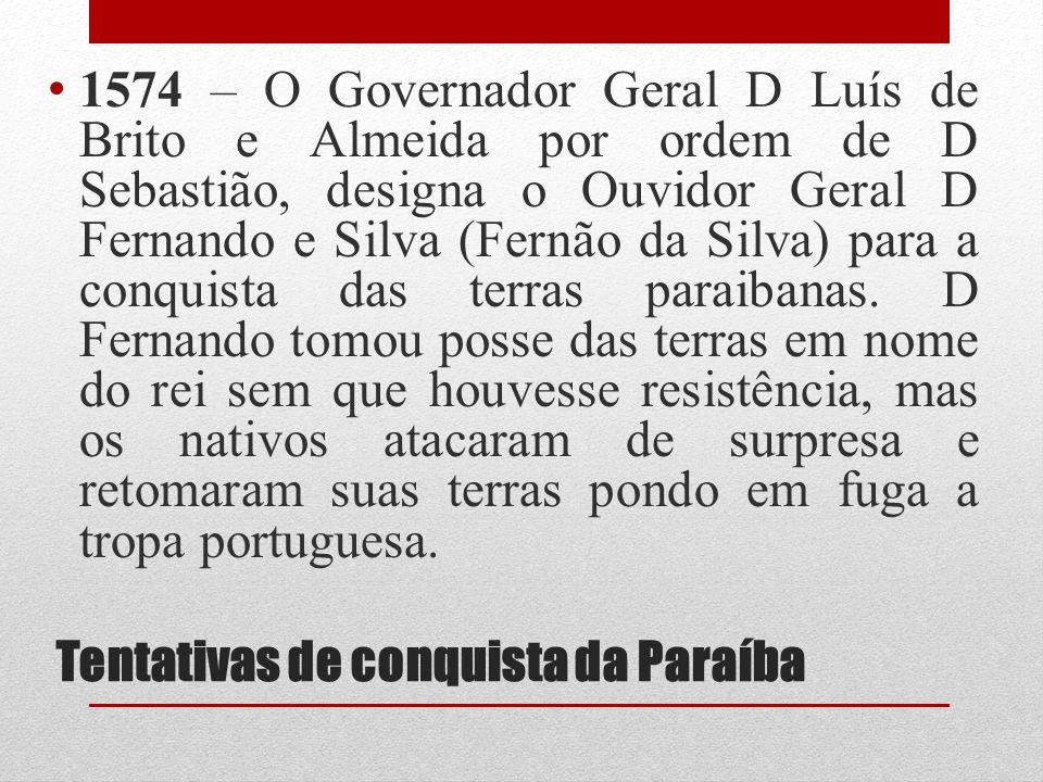 Tentativas de conquista da Paraíba
