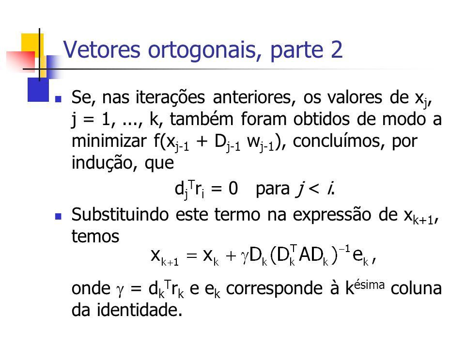 Vetores ortogonais, parte 2