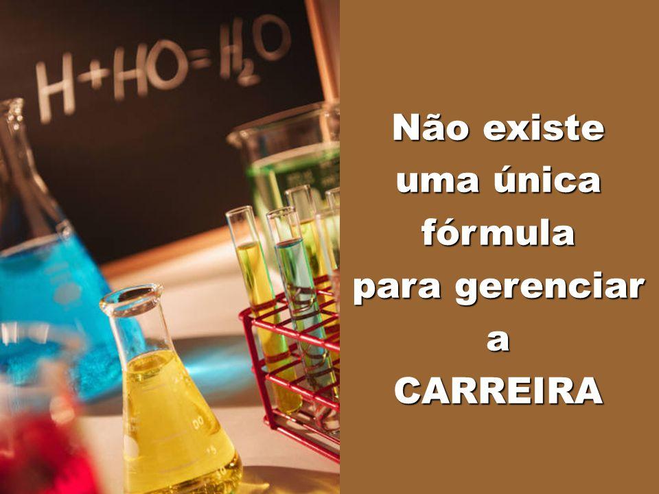 Não existe uma única fórmula para gerenciar a CARREIRA