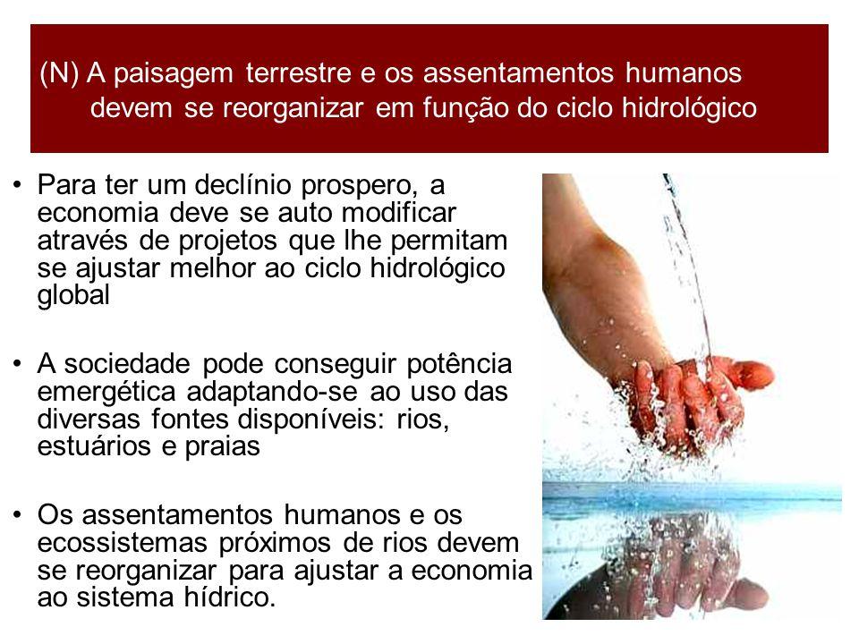(N) A paisagem terrestre e os assentamentos humanos devem se reorganizar em função do ciclo hidrológico