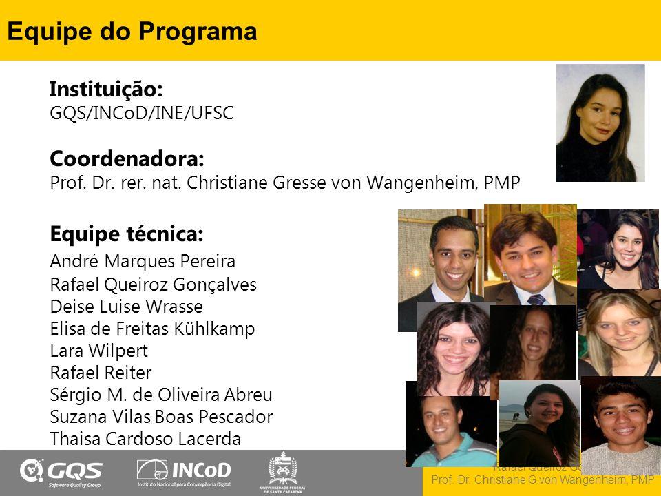 Equipe do Programa Instituição: GQS/INCoD/INE/UFSC