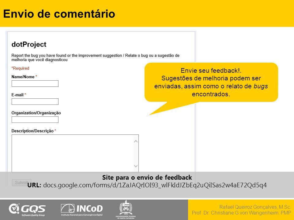 Site para o envio de feedback
