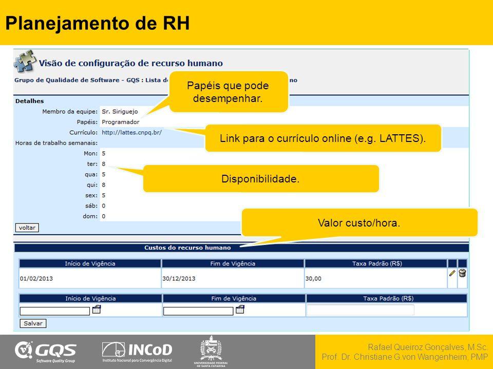 Planejamento de RH Papéis que pode desempenhar.