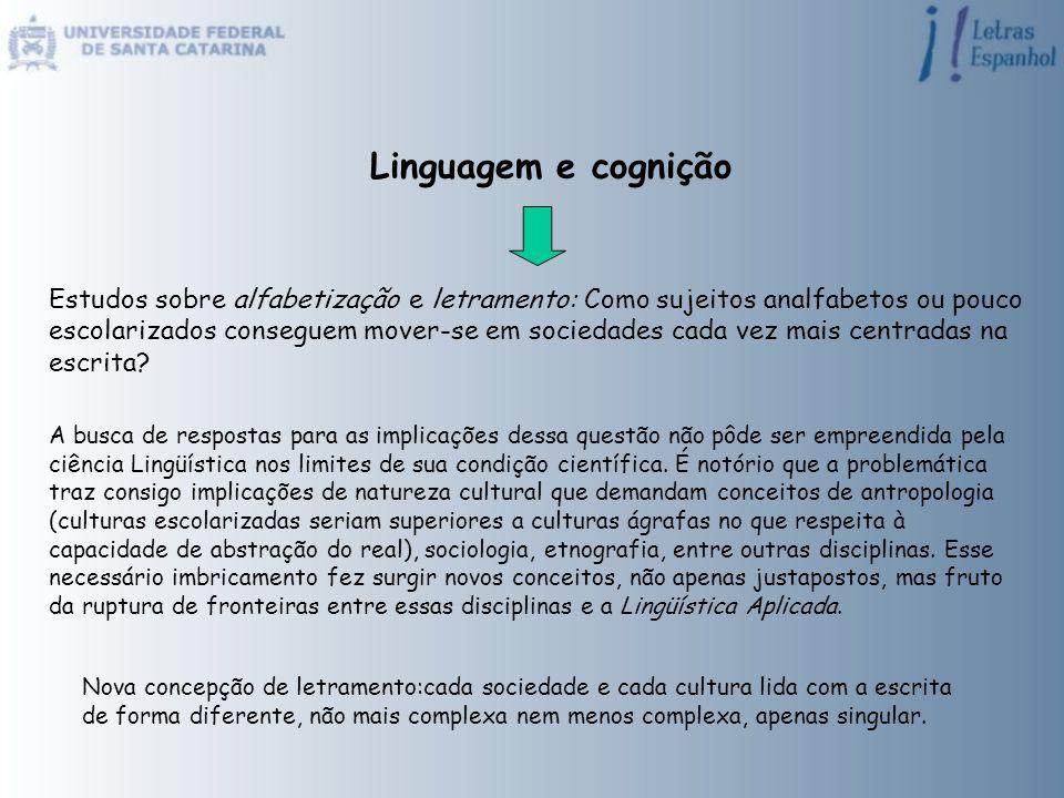 Linguagem e cognição