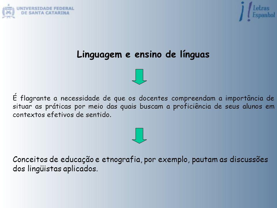 Linguagem e ensino de línguas