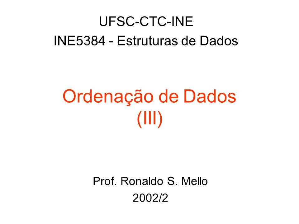 Ordenação de Dados (III)