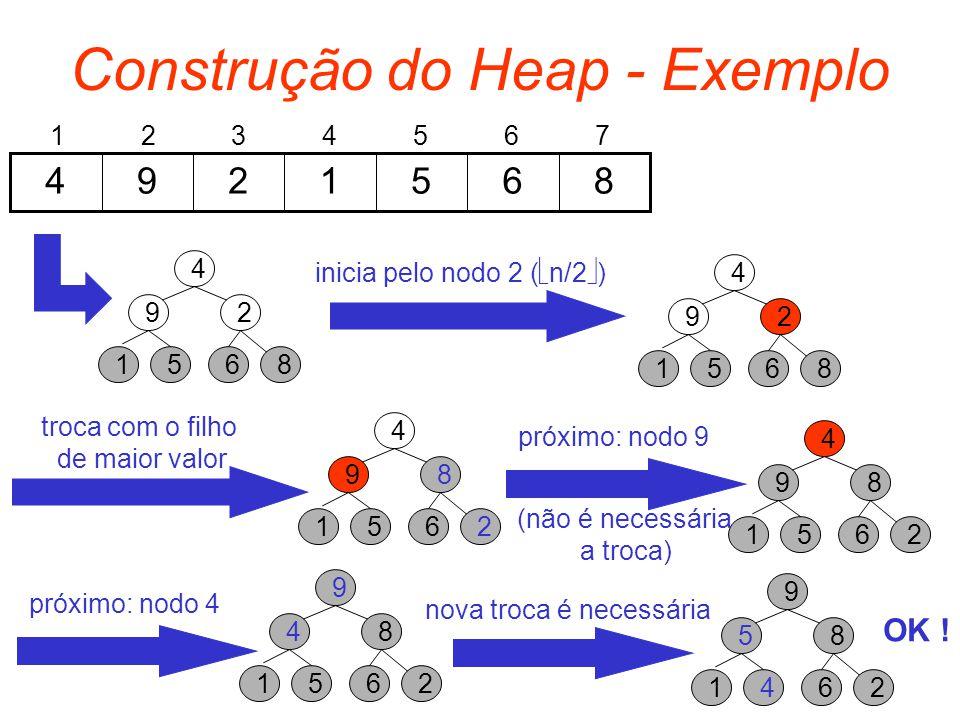 Construção do Heap - Exemplo