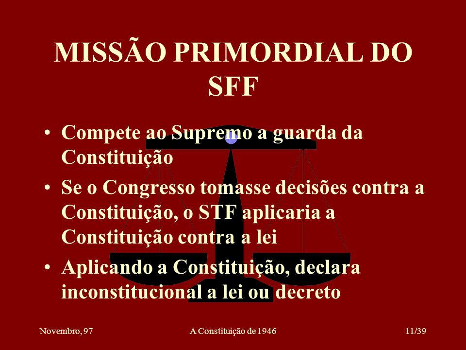 MISSÃO PRIMORDIAL DO SFF