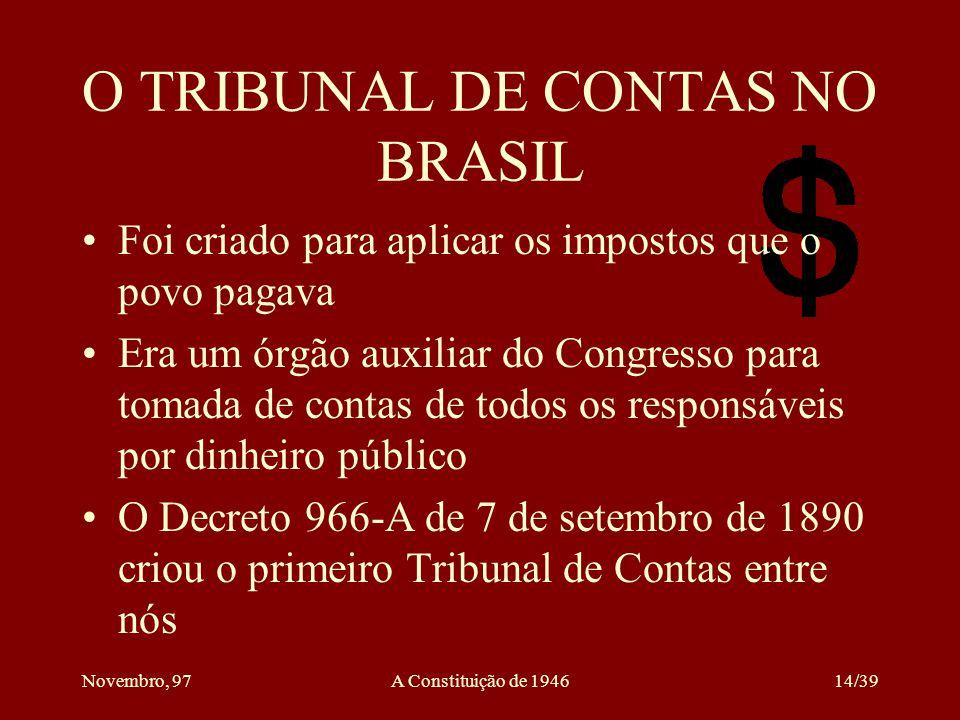 O TRIBUNAL DE CONTAS NO BRASIL