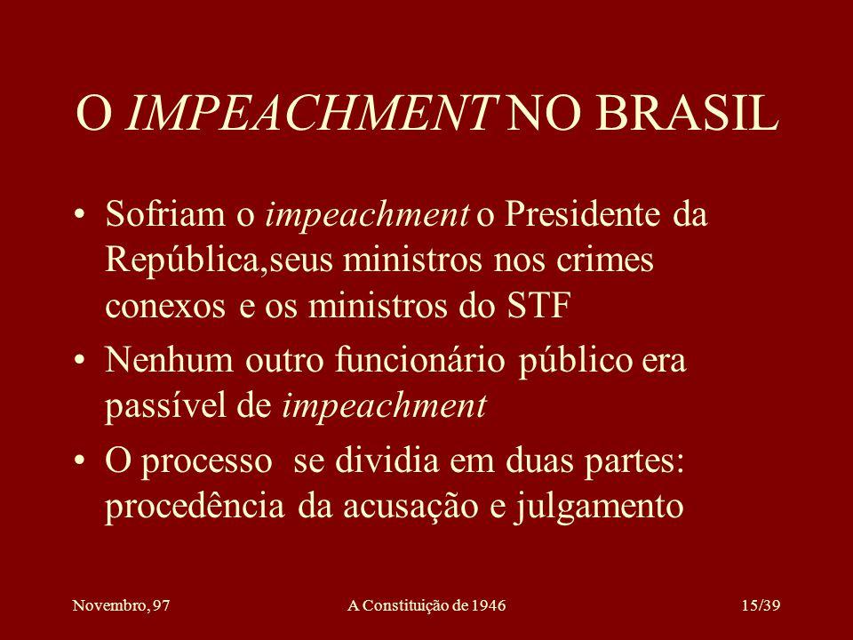 O IMPEACHMENT NO BRASIL
