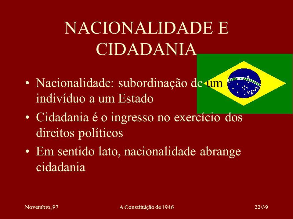 NACIONALIDADE E CIDADANIA