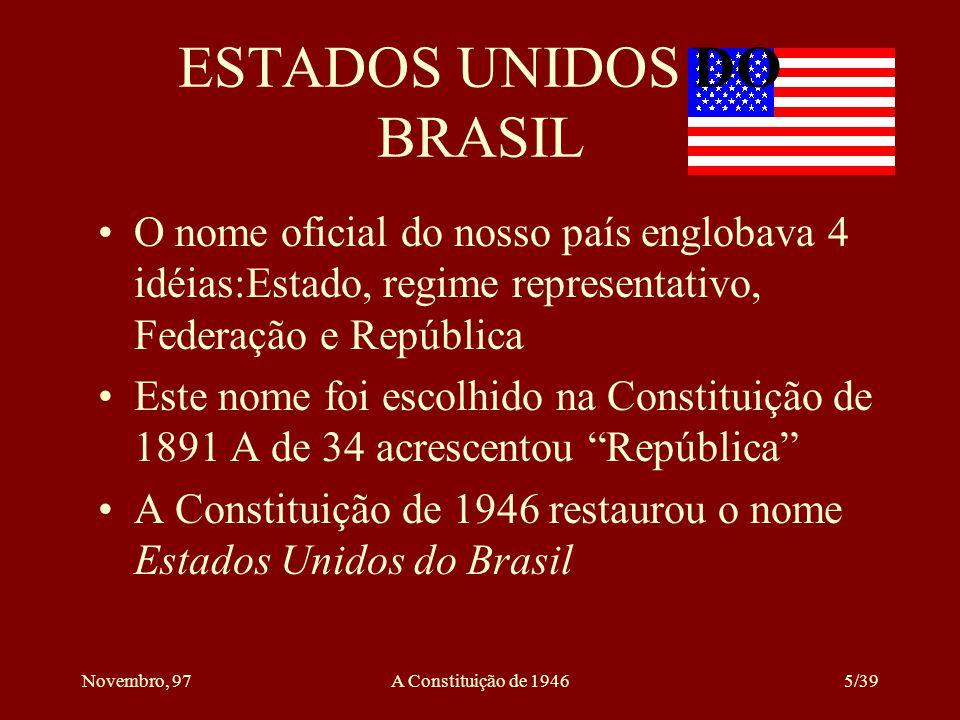 ESTADOS UNIDOS DO BRASIL