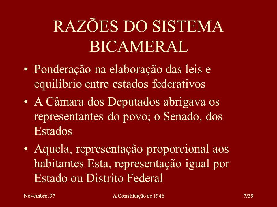 RAZÕES DO SISTEMA BICAMERAL