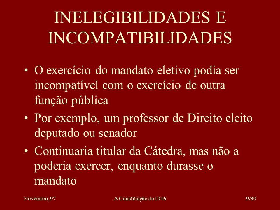 INELEGIBILIDADES E INCOMPATIBILIDADES
