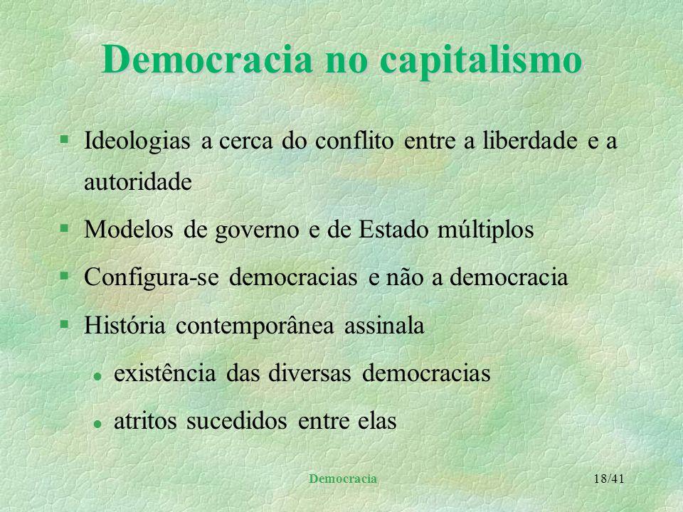 Democracia no capitalismo