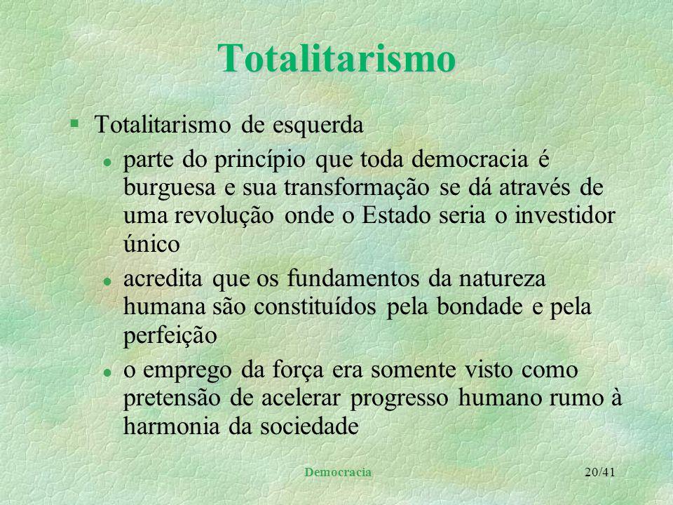 Totalitarismo Totalitarismo de esquerda