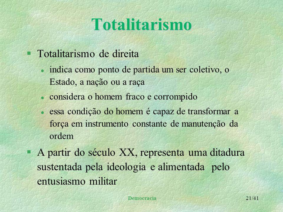 Totalitarismo Totalitarismo de direita