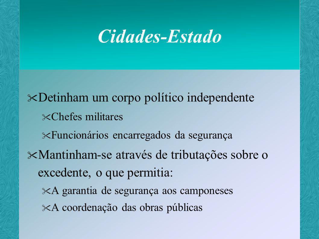 Cidades-Estado Detinham um corpo político independente