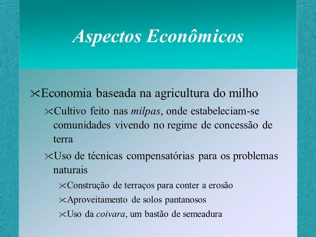 Aspectos Econômicos Economia baseada na agricultura do milho