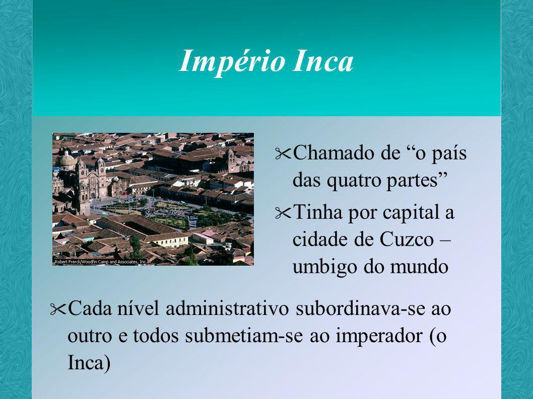 Império Inca Chamado de o país das quatro partes