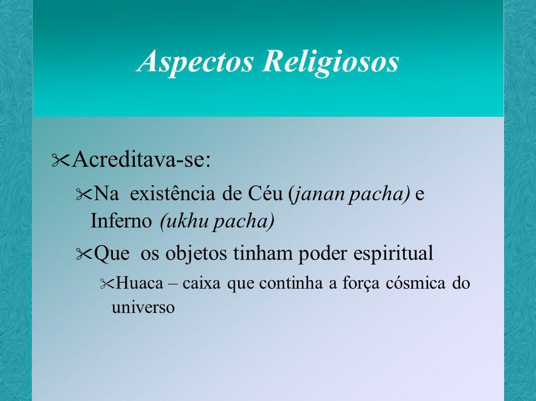 Aspectos Religiosos Acreditava-se: