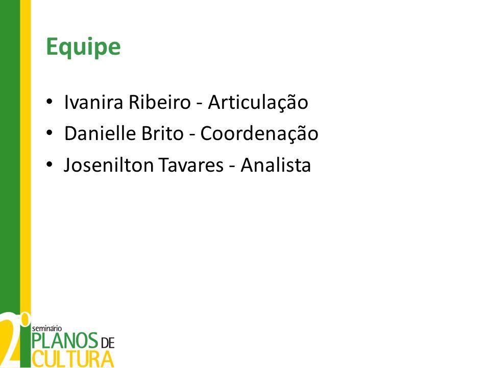 Equipe Ivanira Ribeiro - Articulação Danielle Brito - Coordenação