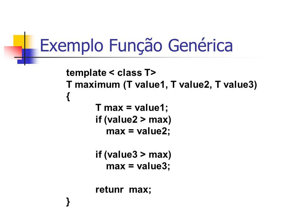 Exemplo Função Genérica