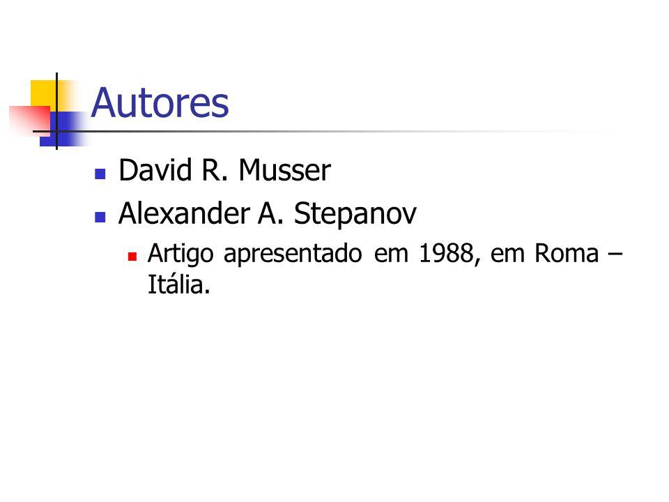 Autores David R. Musser Alexander A. Stepanov