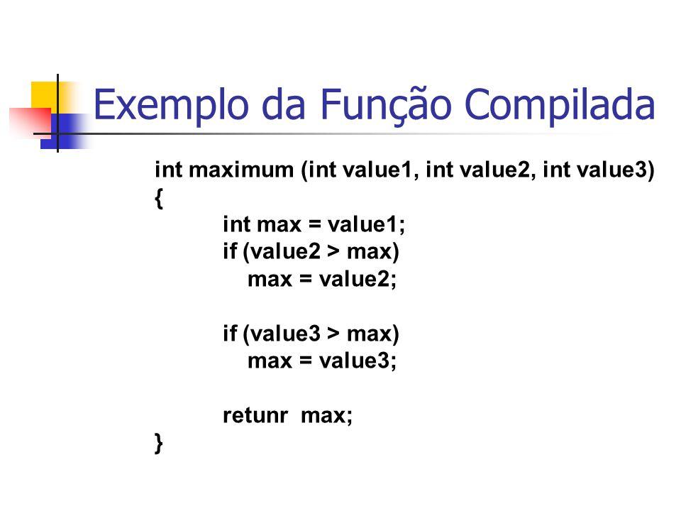 Exemplo da Função Compilada