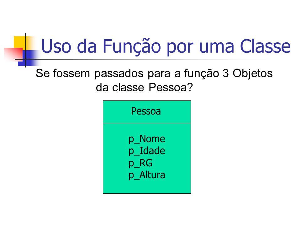 Uso da Função por uma Classe