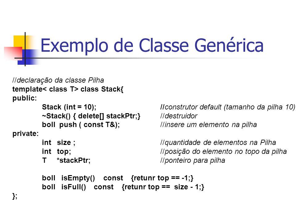 Exemplo de Classe Genérica