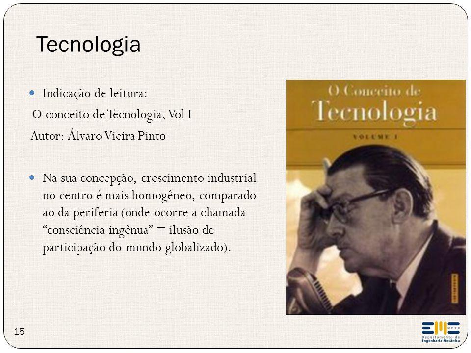 Tecnologia Indicação de leitura: O conceito de Tecnologia, Vol I